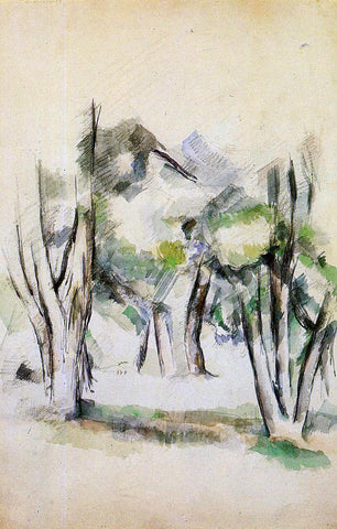 Paul Cezanne Trees - Hand Painted Oil Painting