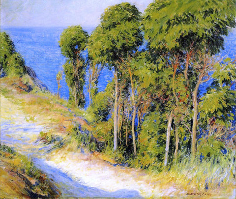 Joseph DeCamp Trees Along the Coast (also known as Road to the Sea) - Hand Painted Oil Painting