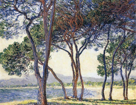 Claude Oscar Monet Trees by the Seashore at Antibes - Hand Painted Oil Painting