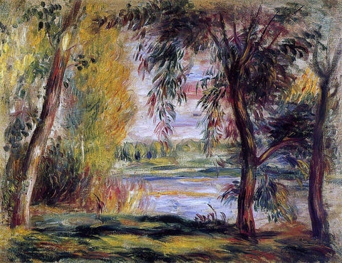 Pierre Auguste Renoir Trees by the Water - Hand Painted Oil Painting