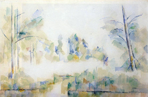Paul Cezanne Trees by the Water - Hand Painted Oil Painting