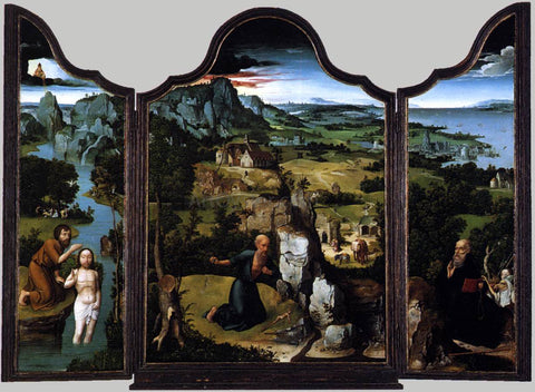 Joachim Patenier Triptych - Hand Painted Oil Painting
