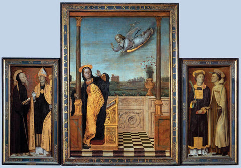 Carlo Braccesco Triptych - Hand Painted Oil Painting