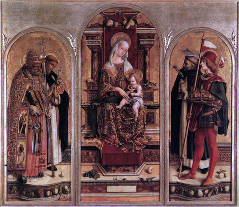 Carlo Crivelli Triptych of Camerino - Hand Painted Oil Painting