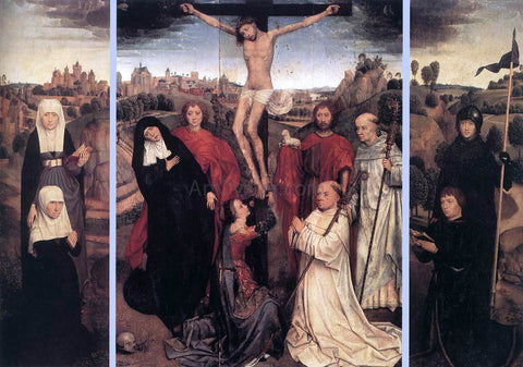 Hans Memling Triptych of Jan Crabbe - Hand Painted Oil Painting