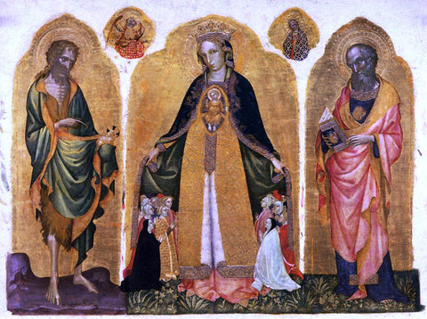 Jacobello Del Fiore Triptych of the Madonna della Misericordia - Hand Painted Oil Painting