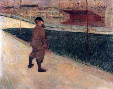 Henri De Toulouse-Lautrec Tristan Bernard at the Buffalo Station - Hand Painted Oil Painting
