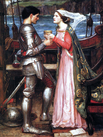 John William Waterhouse Tristram and Isolde - Hand Painted Oil Painting
