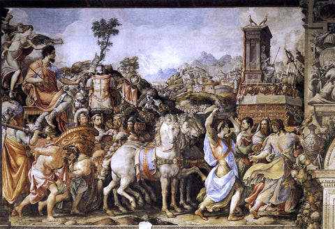 Cecchino Del Salviati Triumph of Furius Camillus - Hand Painted Oil Painting
