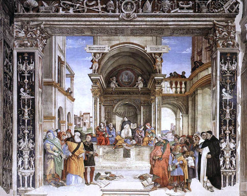 Filippino Lippi Triumph of St Thomas Aquinas over the Heretics - Hand Painted Oil Painting