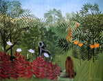 Henri Rousseau A Tropical Forest with Apes and Snake - Hand Painted Oil Painting