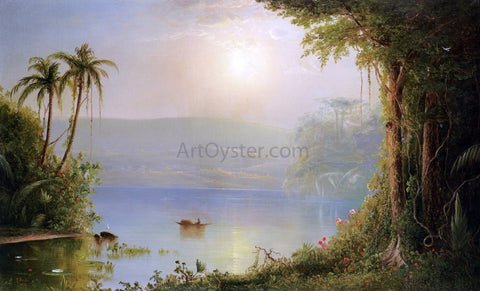 Norton Bush Tropical River Landscape - Hand Painted Oil Painting