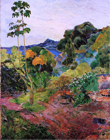 Paul Gauguin Tropical Vegetation - Hand Painted Oil Painting