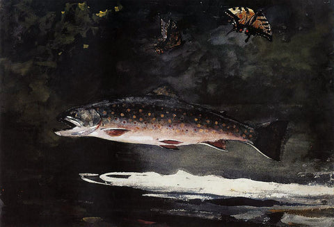 Winslow Homer Trout Breaking - Hand Painted Oil Painting