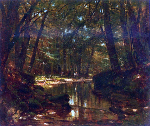 Thomas Worthington Whittredge Trout Stream - Hand Painted Oil Painting