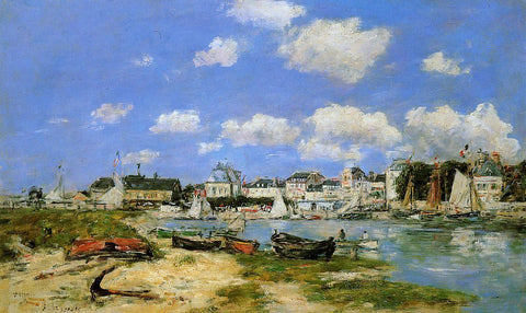 Eugene-Louis Boudin Trouville - Hand Painted Oil Painting