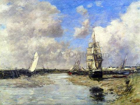 Eugene-Louis Boudin Trouville, the Jetties, Low Tide - Hand Painted Oil Painting