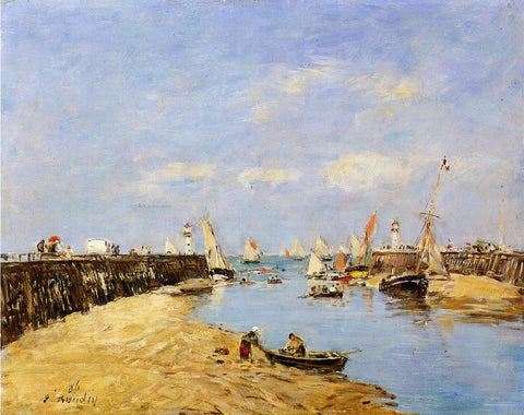Eugene-Louis Boudin Trouville, the Jettys, Low Tide - Hand Painted Oil Painting