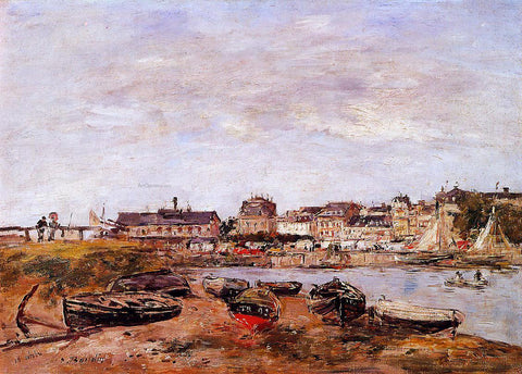 Eugene-Louis Boudin Trouville, the View from Deauville on Market Day - Hand Painted Oil Painting