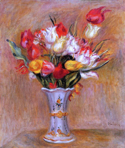 Pierre Auguste Renoir Tulips - Hand Painted Oil Painting