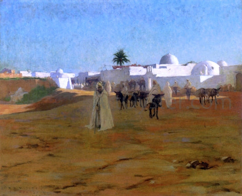 Robert Van Vorst Sewell Tunisian Village - Hand Painted Oil Painting