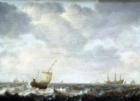 The Elder Pieter Mulier Turbulent Sea - Hand Painted Oil Painting