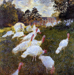 Claude Oscar Monet Turkeys - Hand Painted Oil Painting