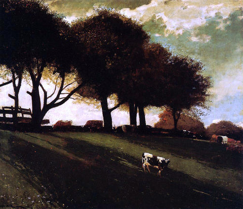 Winslow Homer Twilight at Leeds, New York - Hand Painted Oil Painting