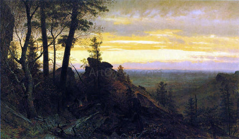 Thomas Worthington Whittredge Twilight in the Shawangunk Mountains - Hand Painted Oil Painting