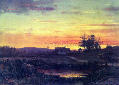 Thomas Worthington Whittredge Twilight Landscape - Hand Painted Oil Painting