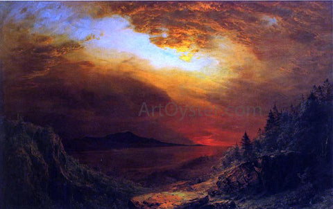 Frederic Edwin Church Twilight Mount Desert Island, Maine - Hand Painted Oil Painting