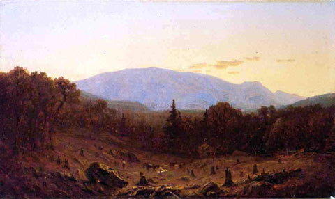 Sanford Robinson Gifford Twilight on Hunter Mountain - Hand Painted Oil Painting