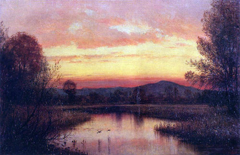 Thomas Worthington Whittredge Twilight on the Marsh - Hand Painted Oil Painting