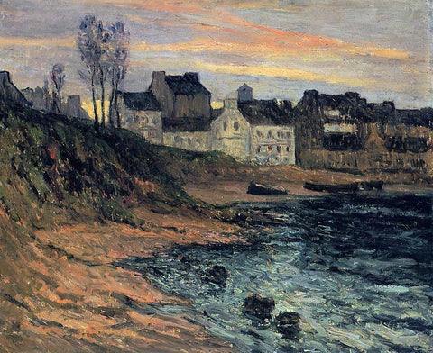 Maxime Maufra Twilight, Winter, Douarnenez - Hand Painted Oil Painting