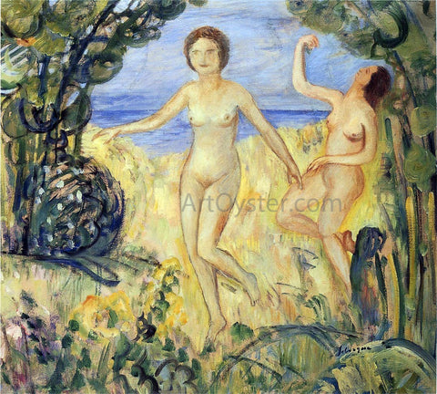 Henri Lebasque Two Bathers by the Beach - Hand Painted Oil Painting
