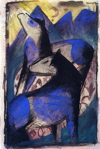 Franz Marc Two Blue Horses - Hand Painted Oil Painting
