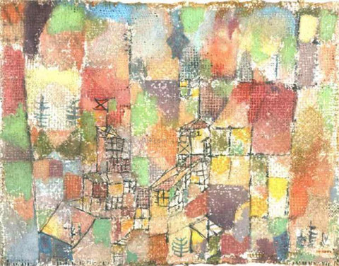 Paul Klee Two Country Houses - Hand Painted Oil Painting