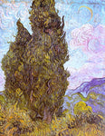 Vincent Van Gogh Two Cypresses - Hand Painted Oil Painting