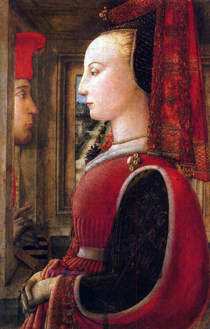 Filippino Lippi Two Figures - Hand Painted Oil Painting