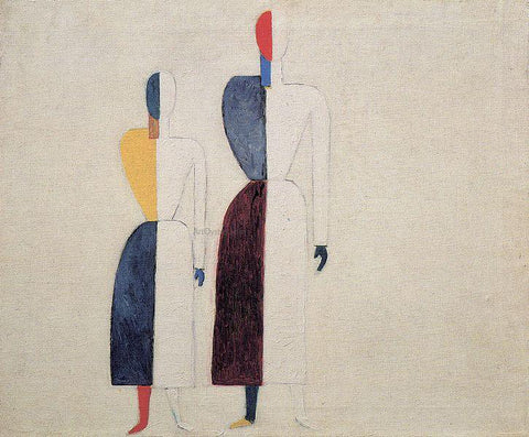 Kazimir Malevich Two Figures - Hand Painted Oil Painting