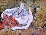 Henri De Toulouse-Lautrec Two Friends - Hand Painted Oil Painting