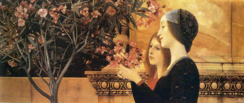 Gustav Klimt Two Girls with an Oleander - Hand Painted Oil Painting
