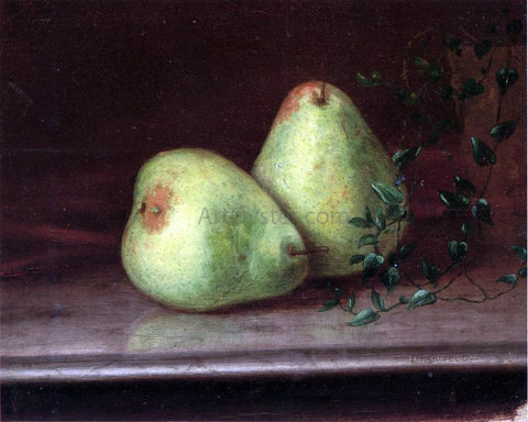 Daniel Folger Bigelow Two Green Pears - Hand Painted Oil Painting