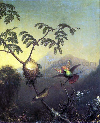 Martin Johnson Heade Two Hummingbirds: Tufted Coquettes - Hand Painted Oil Painting