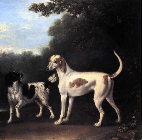 John Wootton Two of the Duchess of Marlborough's Dogs - Hand Painted Oil Painting