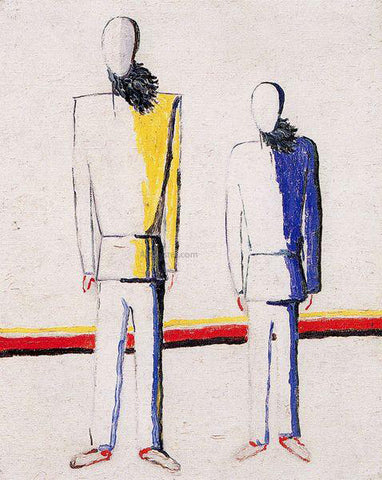 Kazimir Malevich Two Peasants - Hand Painted Oil Painting