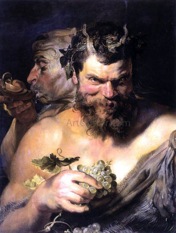 Peter Paul Rubens Two Satyrs - Hand Painted Oil Painting