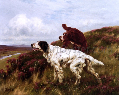 Thomas Blinks Two Setters - Hand Painted Oil Painting