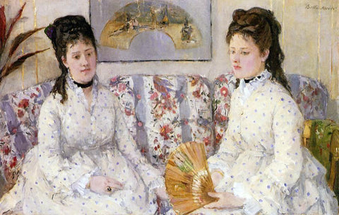 Berthe Morisot Two Sisters on a Couch - Hand Painted Oil Painting