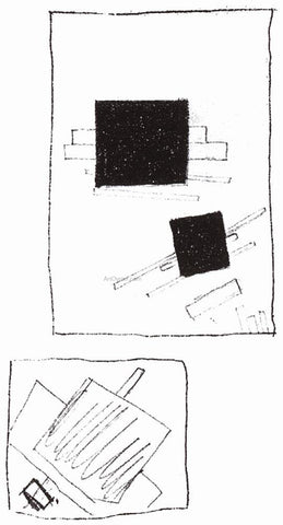 Kazimir Malevich Two Squares - Hand Painted Oil Painting